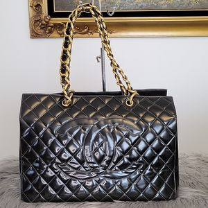 Chanel black GST patent leather